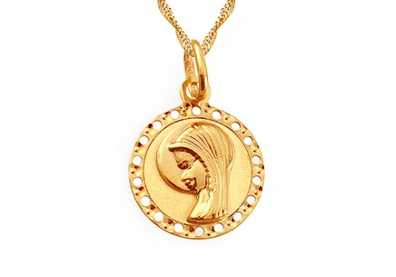 Gold Medaillon Maria Mutter Gottes