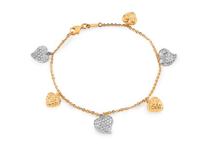 Goldarmband Hearts 1