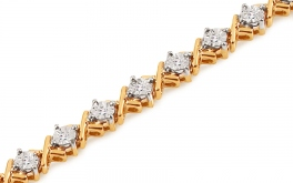 Gold Diamant Armband 0,130 ct Sessy