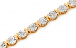 Gold Diamant Armband 0,160 ct Jayma
