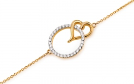 Goldarmband mit Diamanten Lovey
