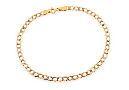Goldenes zweifarbiges Armband Pancier 3.8 mm