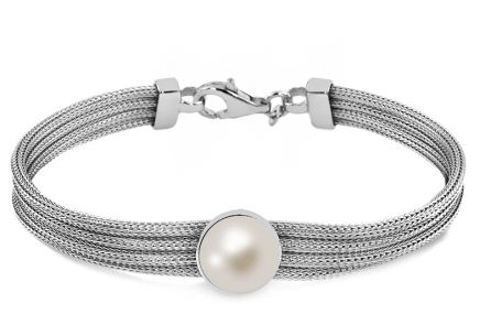 Silberarmband White eye