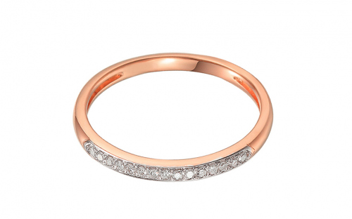 Brillant Ring aus Roségold 0,070 ct - IZBR675RP