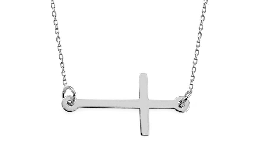 Goldkette damen kreuz  Damen Goldkette mit Kreuz, für Damen (IZ11526) | gSchmuck.ch