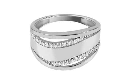 Damen Ring mit Zirkonen - CS9RI1517A