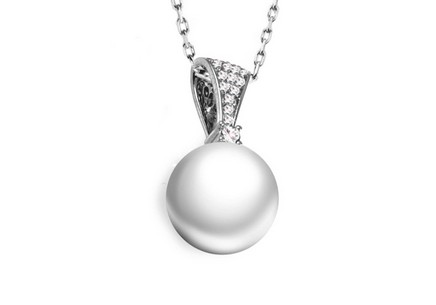 Diamantanhänger 0,080 ct Diamond Pearl