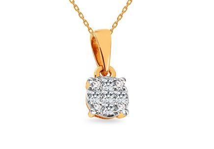 Gold Diamant Anhänger 0,110 ct Berneice
