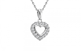 Diamant Herz Midnight Heart 0,140 ct