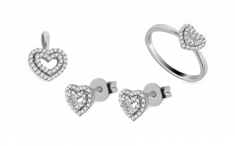 Diamantset 0,420 ct Deluxe Heart