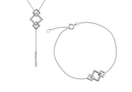 Brillant Set mit Quadraten 0,070 ct