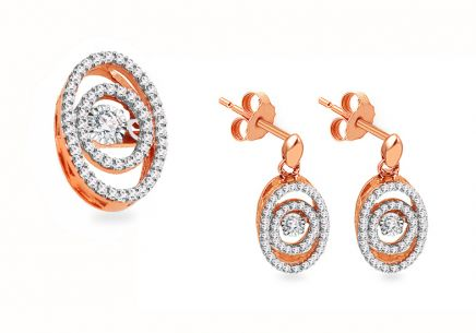 Diamant Set aus Roségold 0,550 ct Dancing Diamonds