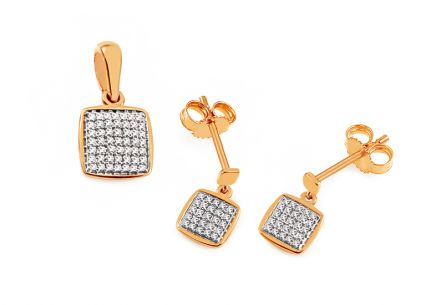 Gold Diamant Set 0,170 ct Aberto
