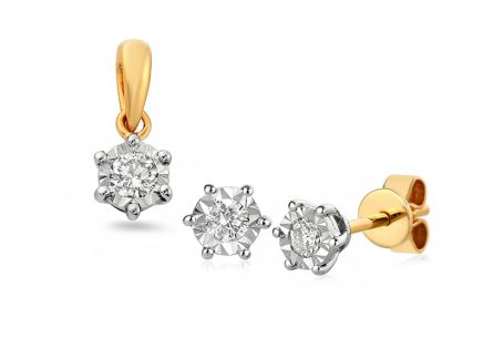 Gold Diamant Set 0,310 ct Waiana