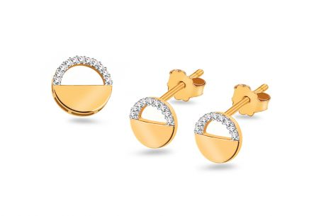 Gold Set mit Brillanten 0,120 ct