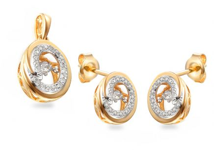 Goldset mit Diamanten 0,340 ct Dancing Diamonds