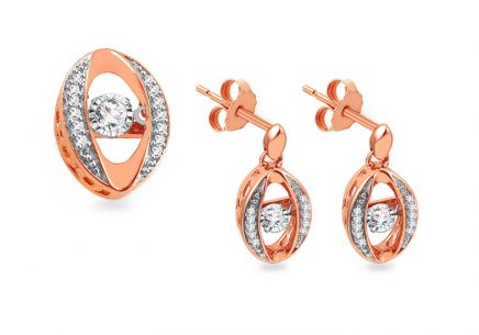 Set aus Roségold mit Diamanten 0,300 ct Dancing Diamonds