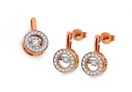 Set aus Roségold mit Diamanten 0,520 ct Dancing Diamonds