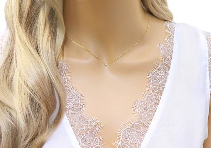 Diamant Gold Halskette 0,030 ct