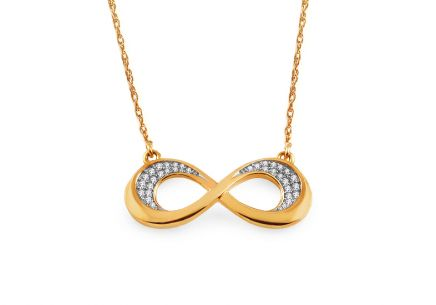 Gold Diamant Halskette 0,070 ct Infinity