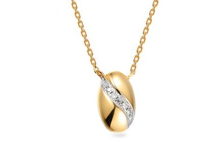 Gold Halskette mit Diamanten 0,010 ct Circeé