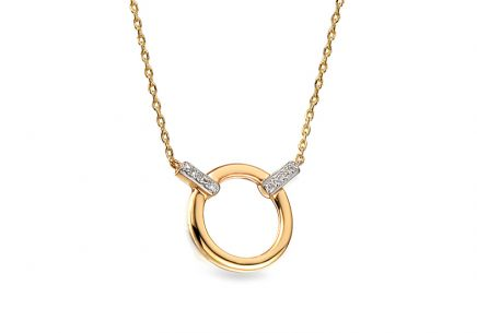 Gold Halskette mit Diamanten 0,010 ct Effie