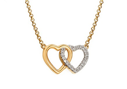 Gold Halskette mit Diamanten 0,050 ct
