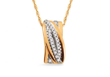 Gold Halskette mit Diamanten 0,050 ct Nataly