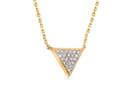 Gold Halskette mit Diamanten 0,080 ct Triangle
