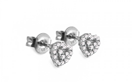Diamantohrringe 0,160 ct Sweet Heart