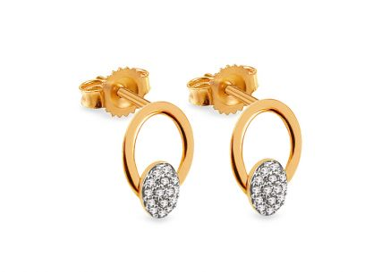 Gold Diamant Ohrringe 0,060 ct Ciri