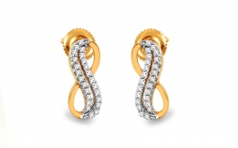 Gold Diamant Ohrringe 0,220 ct Infinity