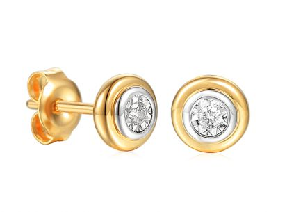 Goldohrringe Ohrstecker mit Diamanten 0,030 ct Christabel