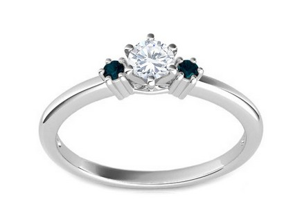 Verlobungsring mit Diamanten 0,240 ct Blue Diamond