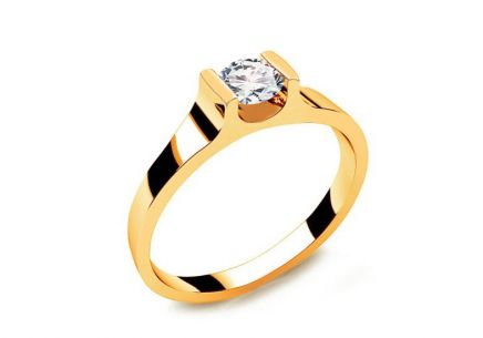 Verlobungsring mit Diamanten 0,230 ct Power Of Love 5 Yellow