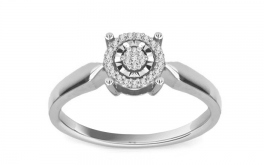 Diamant Ring 0,090 ct Talia 4 white