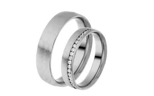 Eheringe mit Diamanten 0,190 ct Yasmine diamonds 4,5 mm - IZOBBR023A