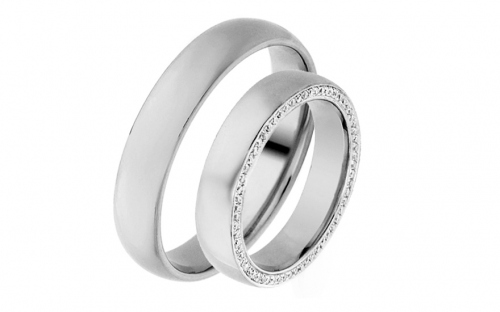 Eheringe mit Diamanten 0,740 ct Yasmine diamonds 4,5 mm - IZOBBR028A