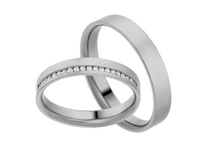 Eheringe mit Diamanten 0,100 ct Yasmine diamonds 3,5 mm