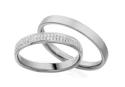 Eheringe mit Diamanten 0,130 ct Yasmine diamonds 3,5 mm
