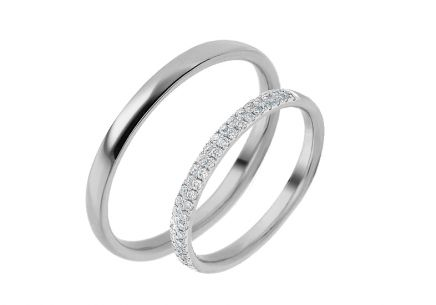 Eheringe mit Diamanten 0,230 ct Yasmine diamonds 2,6 mm
