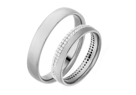 Eheringe mit Diamanten 0,480 ct Yasmine diamonds 4 mm