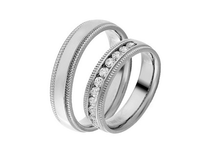 Eheringe mit Diamanten 0,500 ct Yasmine diamonds 5 mm
