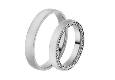 Eheringe  mit Diamanten 0,530 ct Yasmine diamonds 3,5 mm