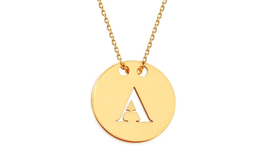 Gold Halskette Celebrity mit Buchstaben A, für Damen (IZ11519 ...