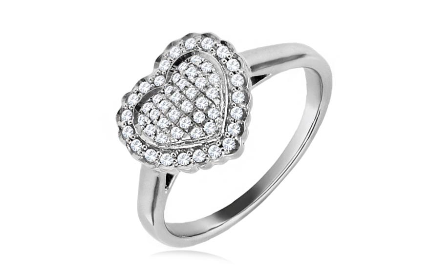 Gold Verlobungsring Herz Mit Diamanten Tyliana Fur Damen Csbri004a