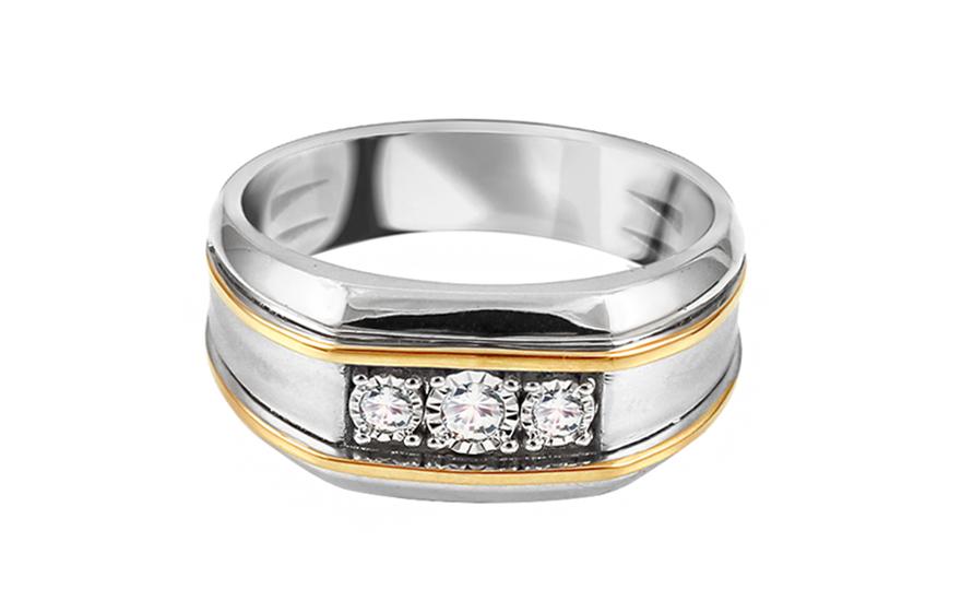 herren goldring mit diamanten noreis f r herren ku572. Black Bedroom Furniture Sets. Home Design Ideas