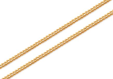 Damen Goldkette Curb-Muster 1,4 mm