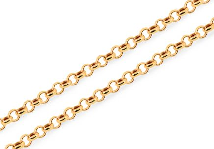 Goldkette Rolo 4 mm