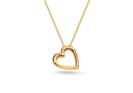 Damen Goldkette Heart 1